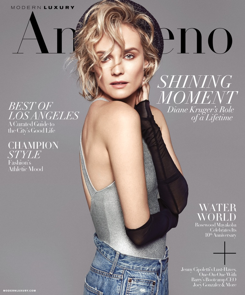 Diane Kruger on Angeleno January 2018 Cover