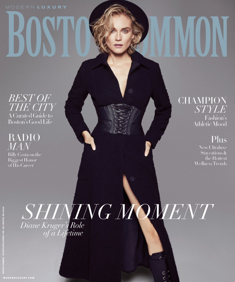 Actress Diane Kruger on Boston Common January 2018 Cover