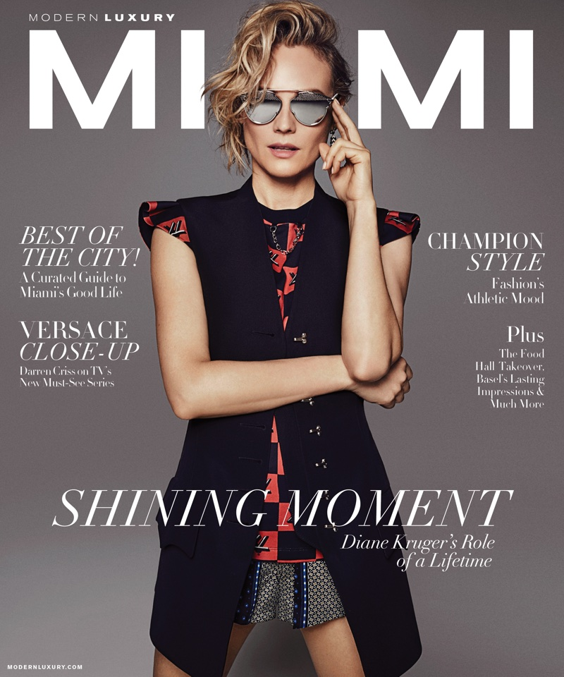 Diane Kruger on Miami Magazine January 2018 Cover