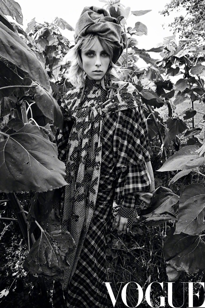 Edie Campbell Models Dreamy Outdoor Style for Vogue China