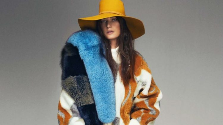 Eugenia Volodina Poses in Oversized Winter Styles for ELLE Spain