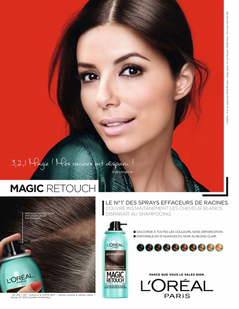 Eva Longoria fronts L'Oreal Paris Magic Retouch campaign