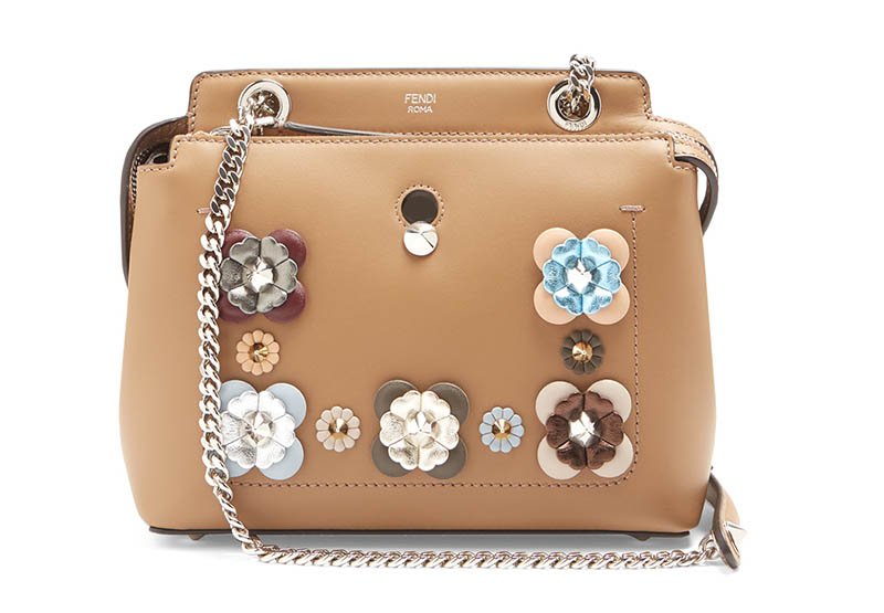 Fendi Dotcom Mini Flowerland-Embellished Leather Bag $2,100 (previously $3,000)