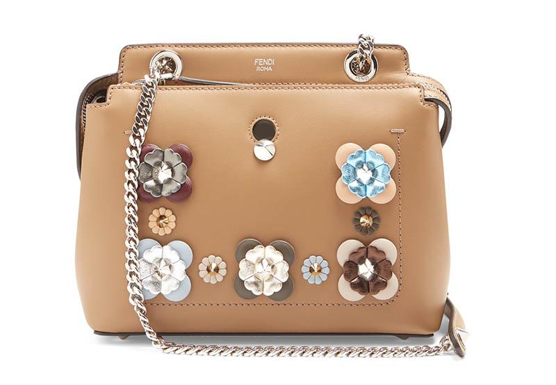 Fendi Dotcom Mini Flowerland-Embellished Leather Bag $2,100 (previously $3,000)