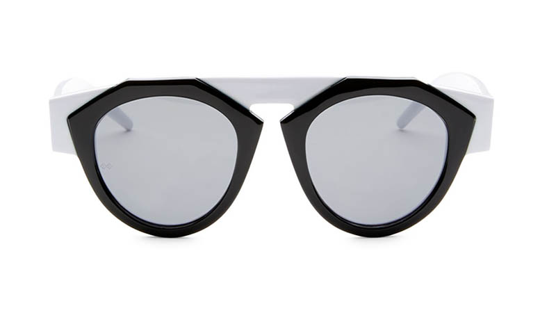 Fiorucci x Smoke x Mirrors Atomic3 Hite Round Sunglasses in Black $350
