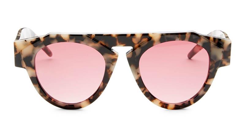 Fiorucci x Smoke x Mirrors Atomic3 Marble Glam Round Sunglasses $350