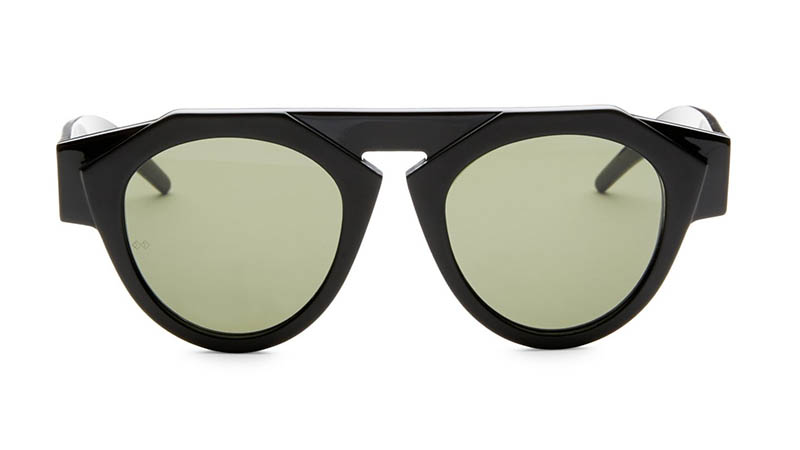 Fiorucci x Smoke x Mirrors Atomic3 Round Sunglasses in Black $350