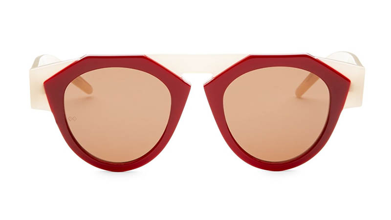 Fiorucci x Smoke x Mirrors Atomic3 Round Sunglasses in Red $350