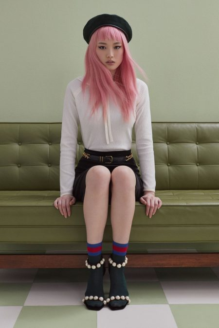 Fernanda Ly Charms in For Love & Lemons' Winter Knitz Styles