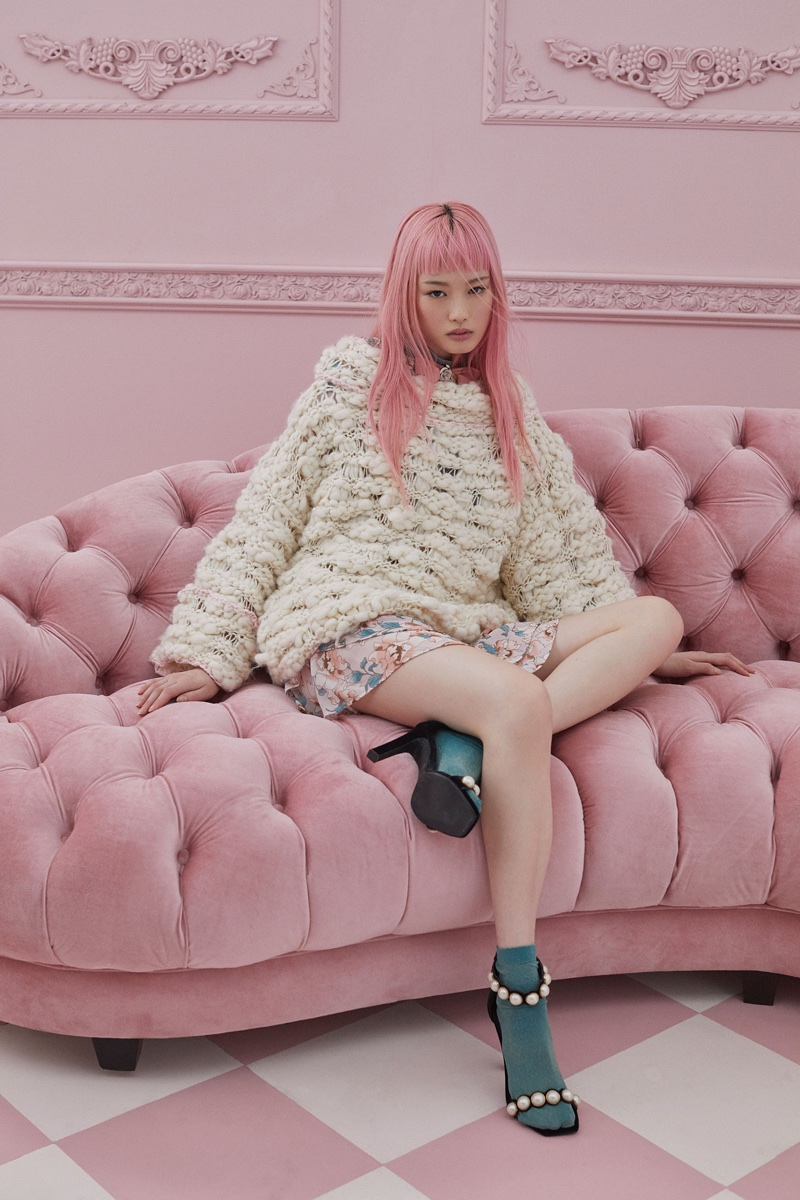Fernanda Ly stars in For Love & Lemons' fall-winter 2017 Knitz collection