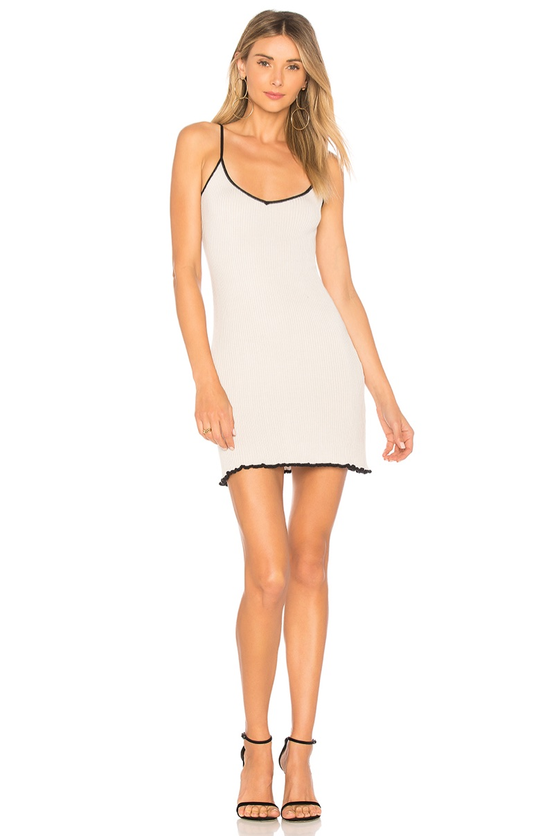 For Love & Lemons Ruffle Edge Tank Dress $132
