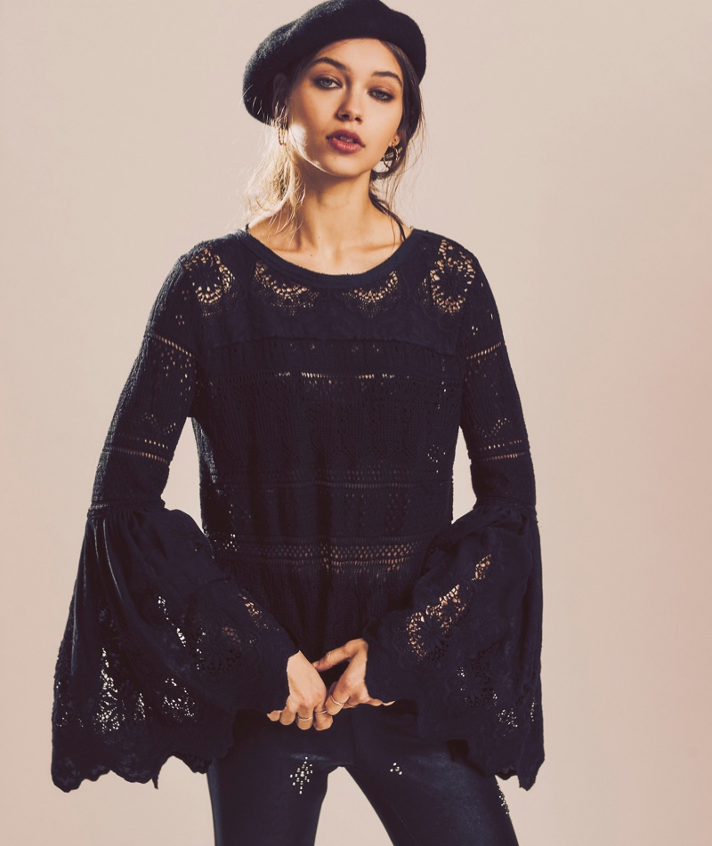 Free People Once Upon a Time Lace Top $148