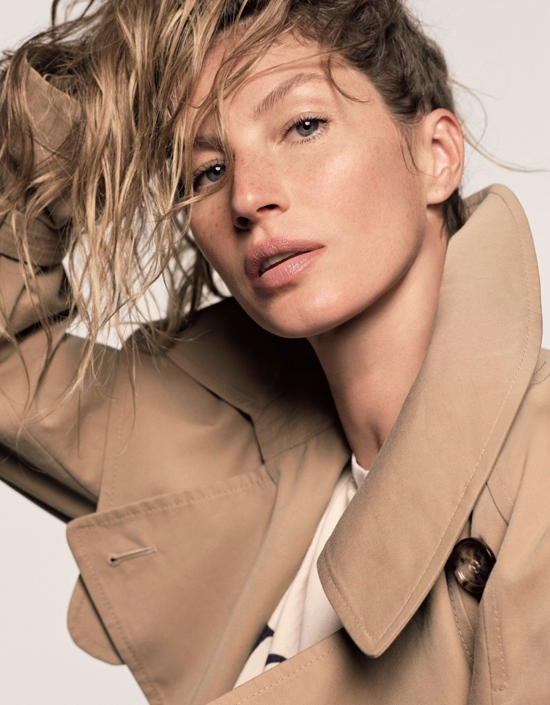 Gisele Bundchen Poses in Casual Looks for Vogue Japan