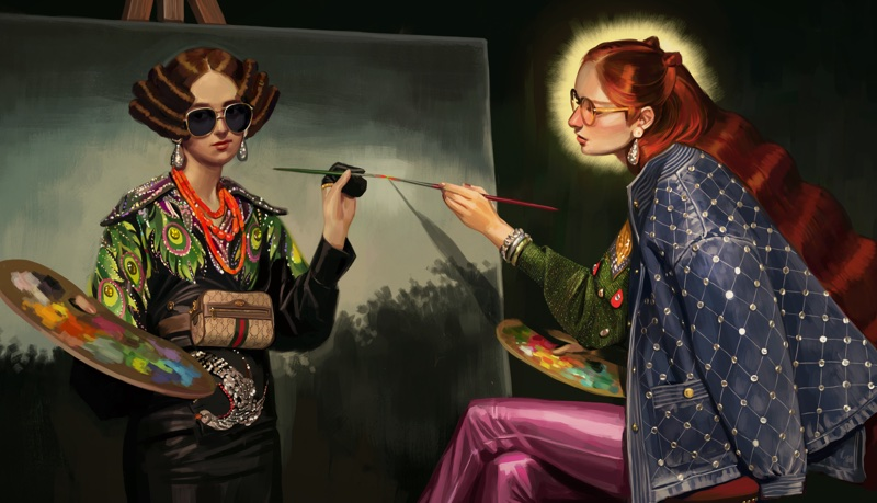 An image from Gucci's illustrated spring-summer 2018 campaign