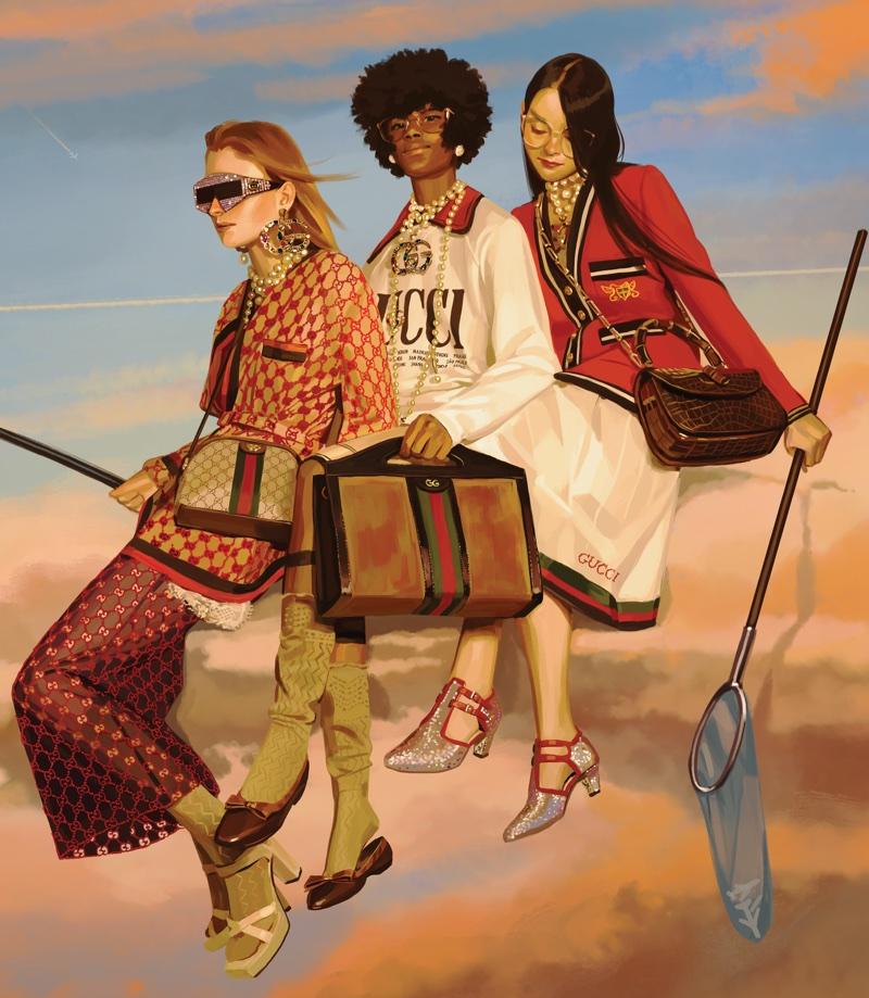 Gucci showcases whimsical scenes for spring 2018 Utopian Fantasy campaign