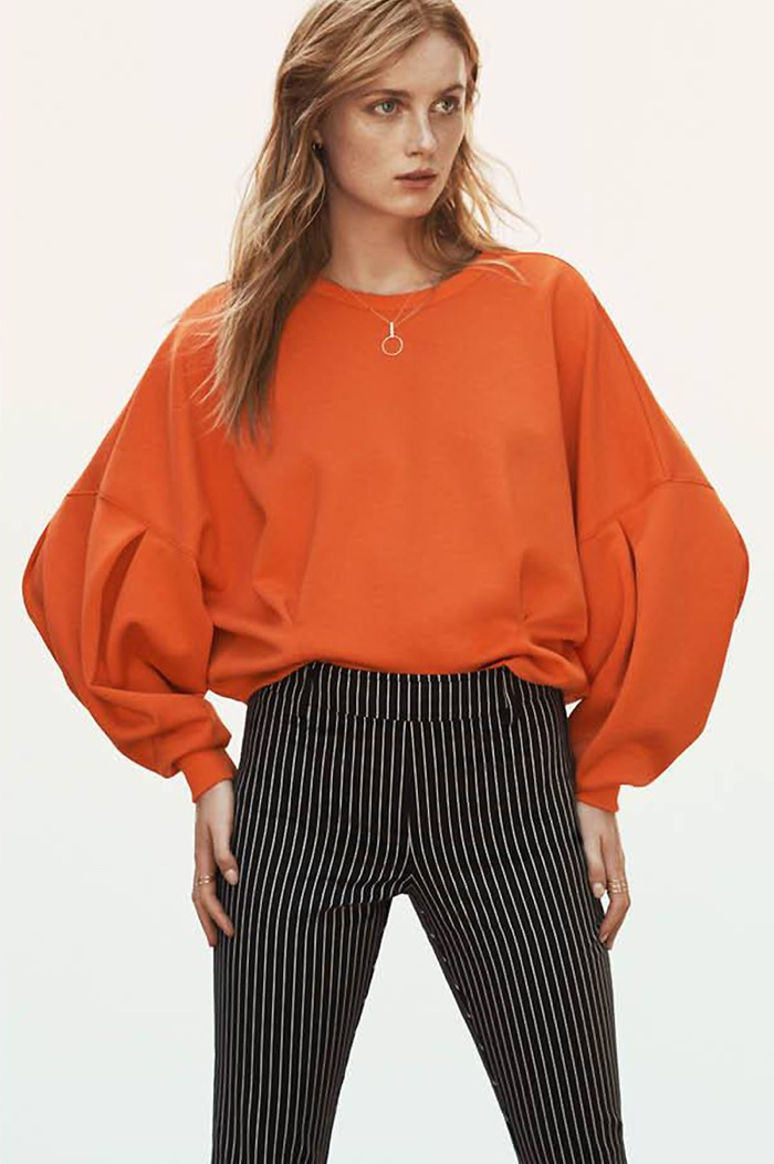 H&M Scuba-Look Top, Stovepipe Pants and 2-Pack Necklaces