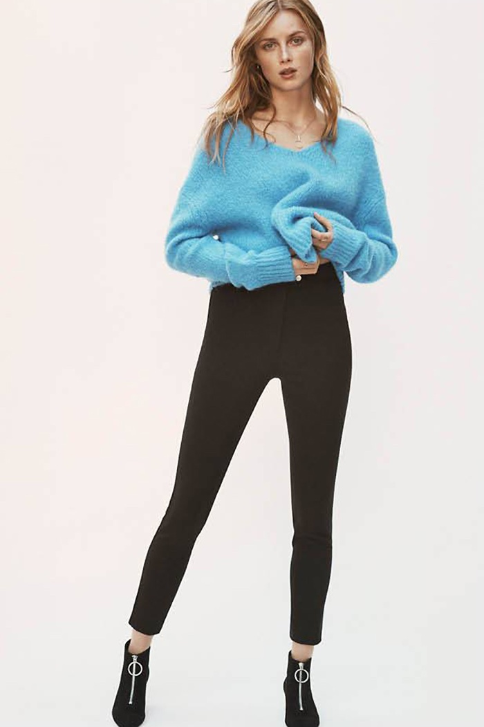H&M Knit Sweater, Slim-Fit Pants and Ankle Boots