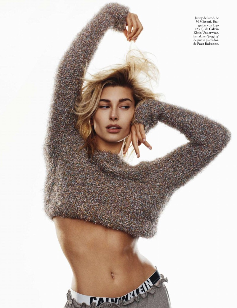 Hailey Baldwin Poses in New Season Looks for ELLE Spain