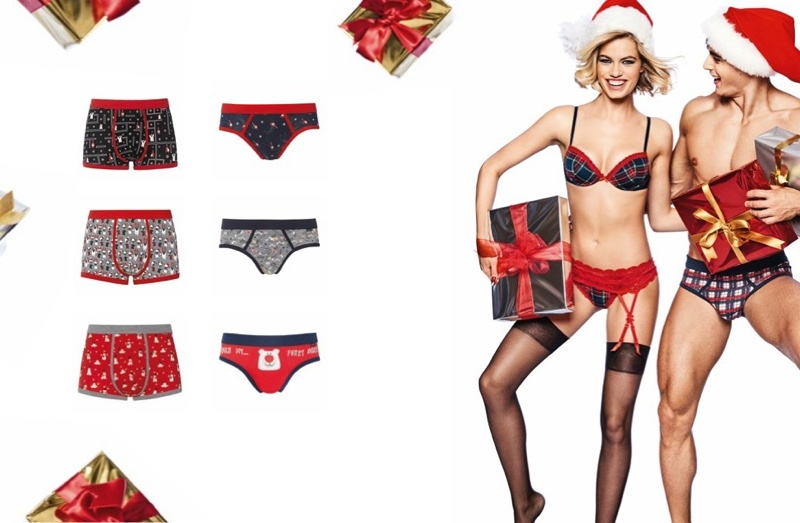 An image from Yamamay's Christmas 2017 advertising campaign