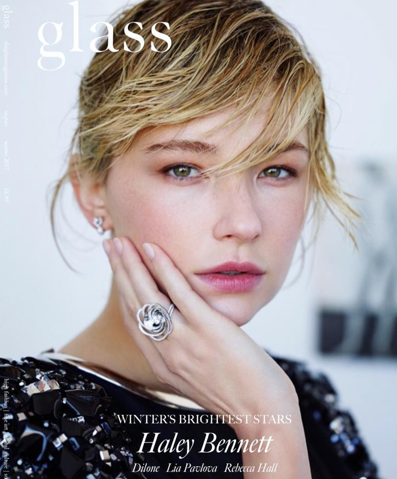 Haley Bennett on Glass Magazine Winter 2017 Cover