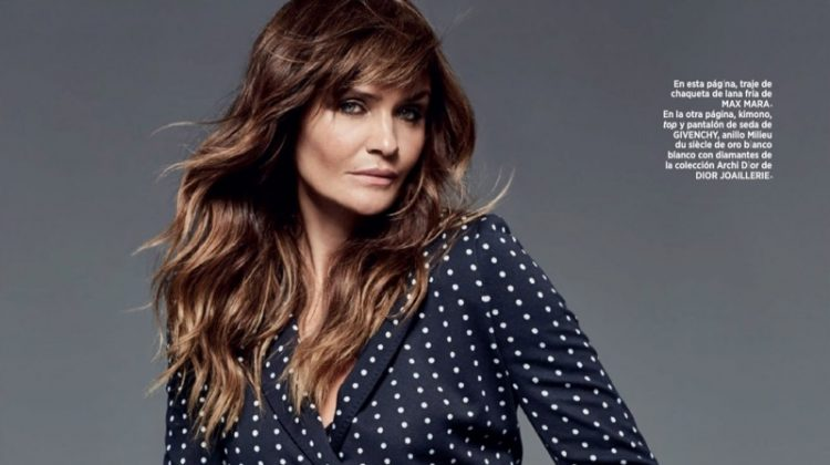 Helena Christensen Wears Elegant Styles for Harper's Bazaar Spain
