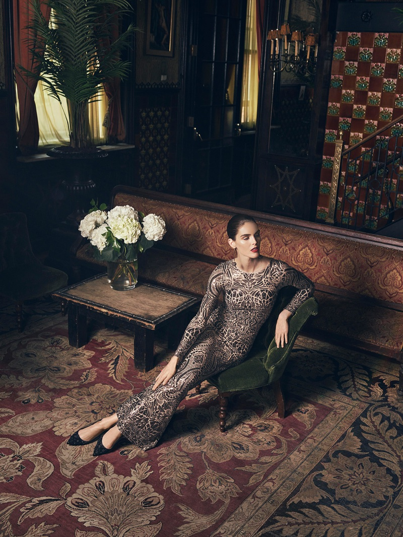 Hilary Rhoda Dazzles in Party-Ready Dresses for Lord & Taylor