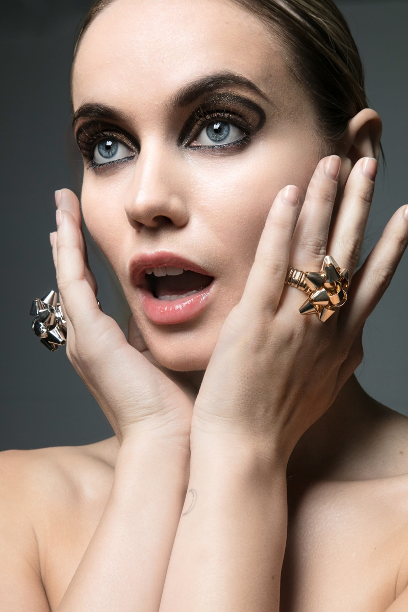 Juliet Miquelarena shows off glittering rings. Photo: Jeff Tse