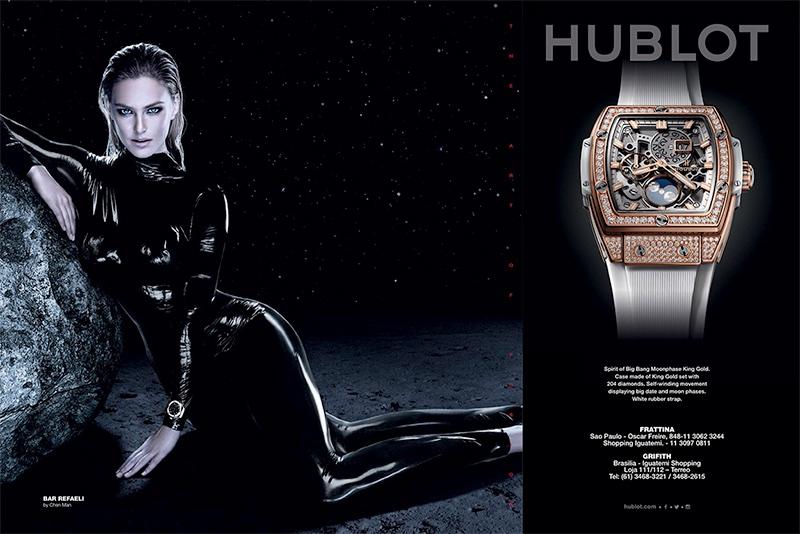 Bar Refaeli looks sleek in Hublot watch advertising campaign