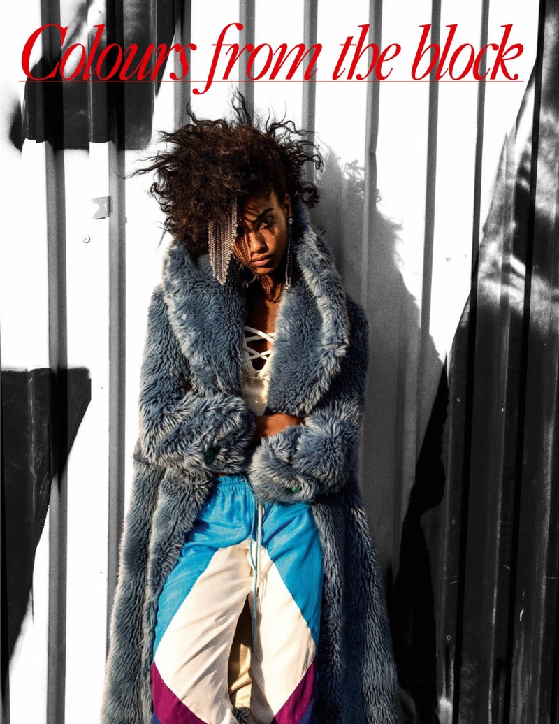 Imaan Hammam Rocks Bold Retro Fashions for Vogue Paris
