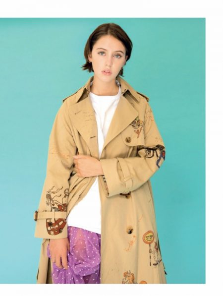 Iris Law Poses in Pastel Burberry Looks for Jalouse