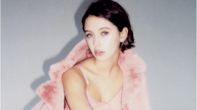 Clad in pink, Iris Law poses in complete ensemble from Burberry