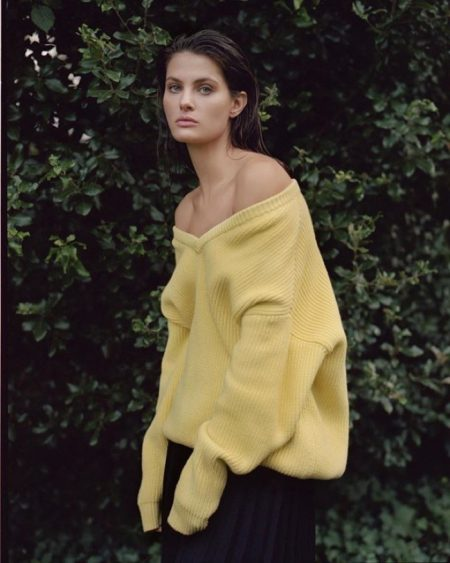Isabeli Fontana Poses in Pared Down Looks for Russh Magazine