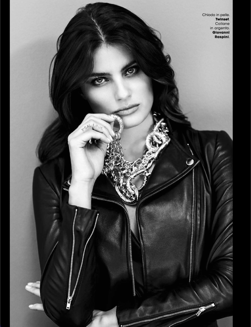 Isabeli Fontana Poses in Sleek Fashions for Glamour Italy