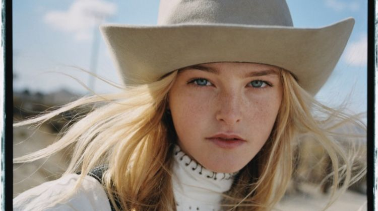 Jean Campbell Goes West in Casual Looks for Vogue Russia