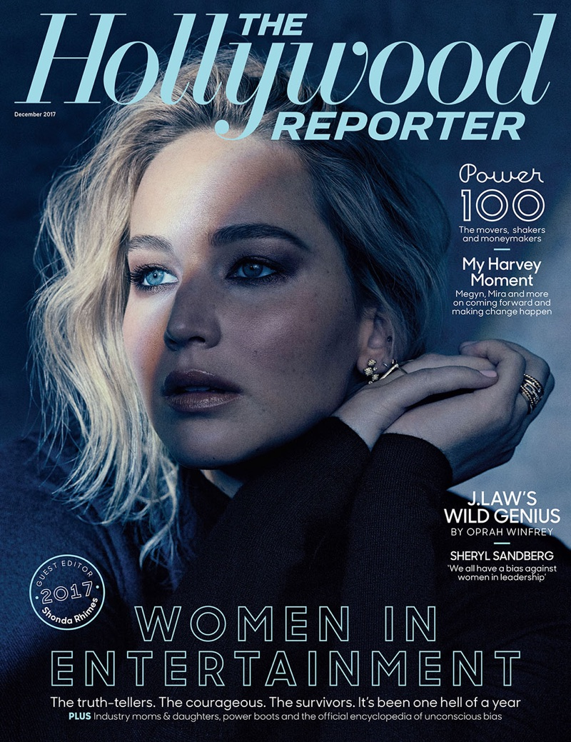 Jennifer Lawrence on The Hollywood Reporter December 2017 Cover