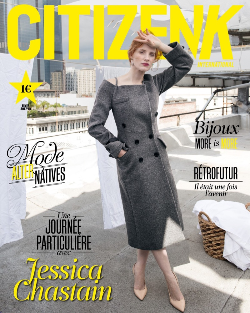 Jessica Chastain on Citizen K Winter 2017/2018 Cover