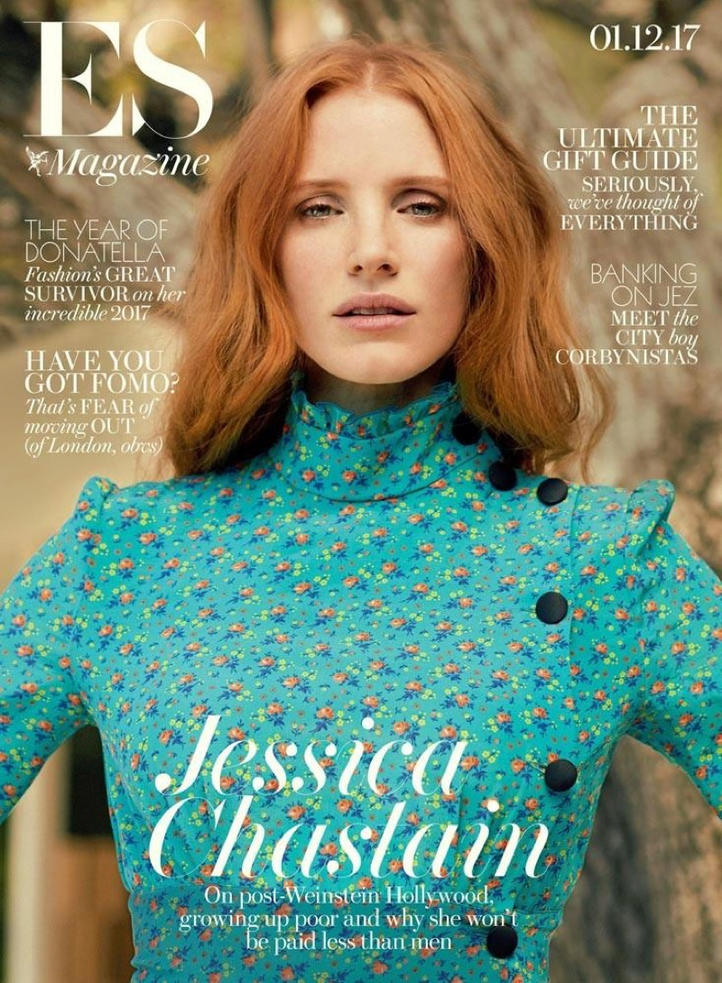 Jessica Chastain on Evening Standard Magazine December 1st, 2017 Cover