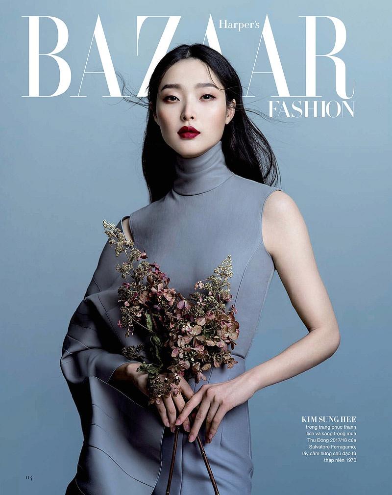 Model Sunghee Kim for Harper's Bazaar Vietnam November 2017. Photo: Jingna Zhang