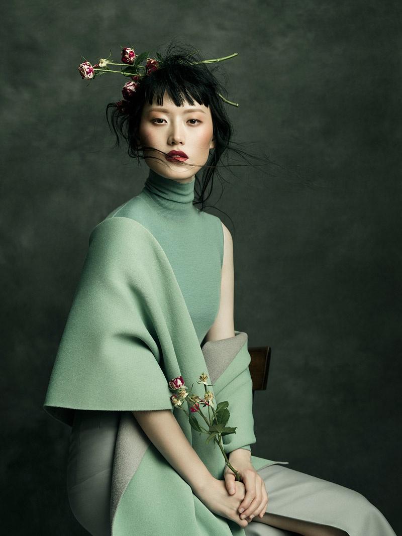 Model Hye Seung Lee for Harper's Bazaar Vietnam November 2017. Photo: Jingna Zhang