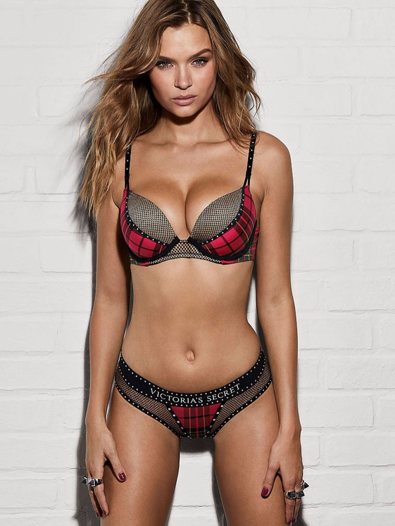 Josephine Skriver poses in Victoria's Secret x Balmain lingerie collaboration