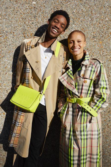 Montell Martin and Adwoa Aboah wear Burberry trench coats for #JuergenXAdwoa campaign