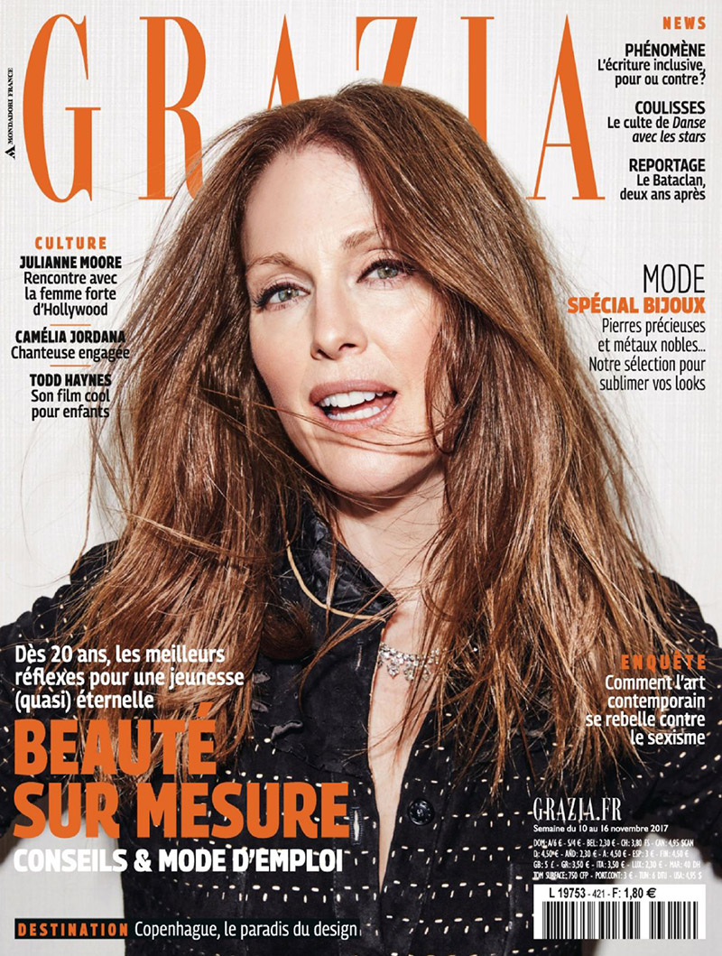 Julianne Moore on Grazia France November 10th, 2017 Cover