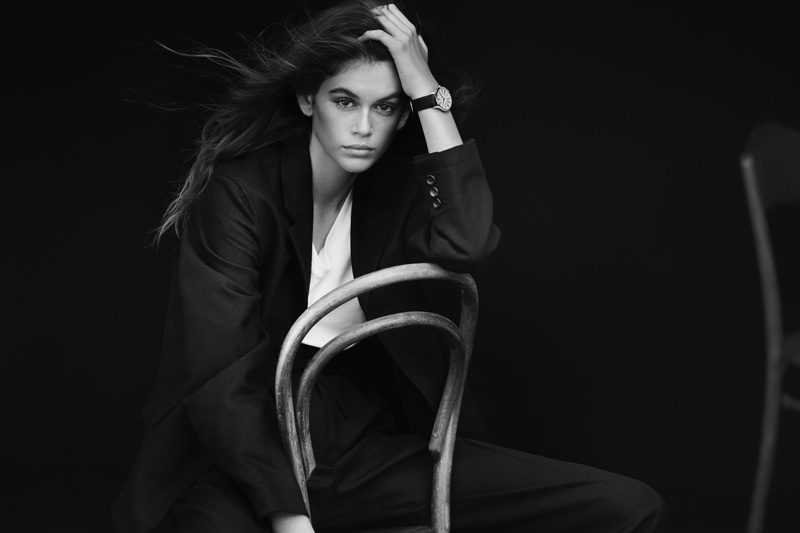 Model Kaia Gerber fronts OMEGA Trésor watch campaign