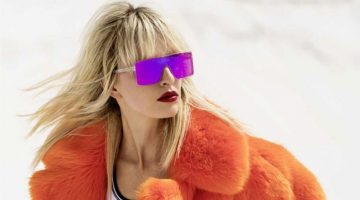 Karolina Kurkova Models Colorful Coats for ELLE Russia