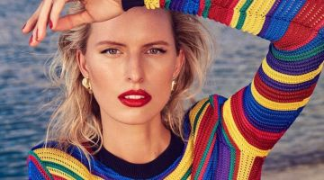 Karolina Kurkova Poses in Miami Inspired Styles for Alexa Magazine