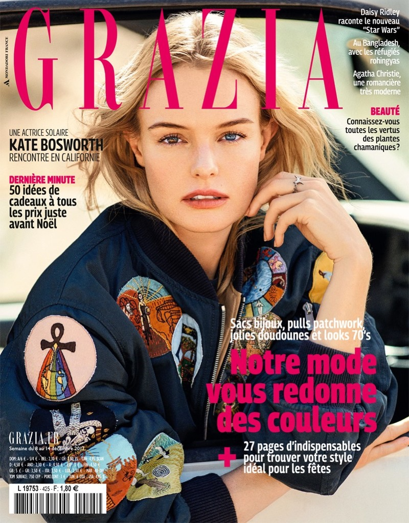 Kate Bosworth on Grazia France December 14, 2017 Cover