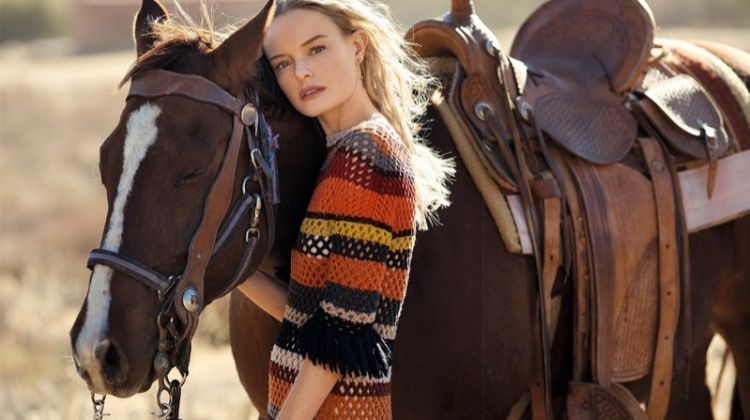 Kate Bosworth wears Dior knit dress