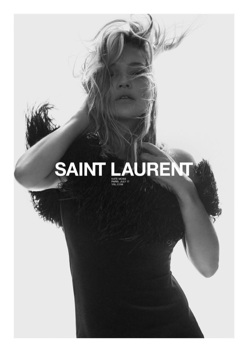 Saint Laurent taps Kate Moss for spring 2018 campaign