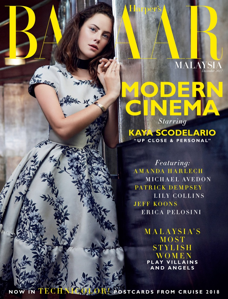 Kaya Scodelario on Harper's Bazaar Malaysia December 2017 Cover