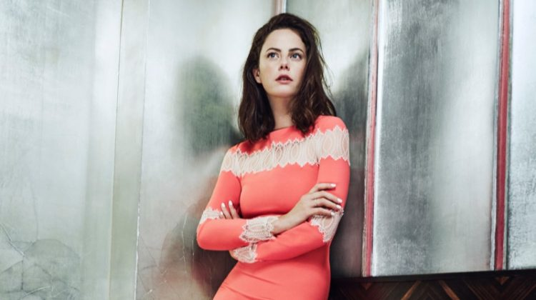 Kaya Scodelario stuns in Huishan Zhang gown with lace panelling